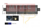 Heavy Duty 18oz 3 Pc Lumber Tarp (4' Drop)