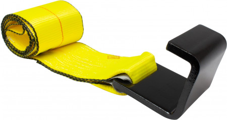 """4"""" x 5' Roll off Container Winch Strap w/ Flat Hook"""