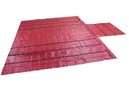 Superlight 14oz Lumber Tarp 24x27 (8' Drop) - Red