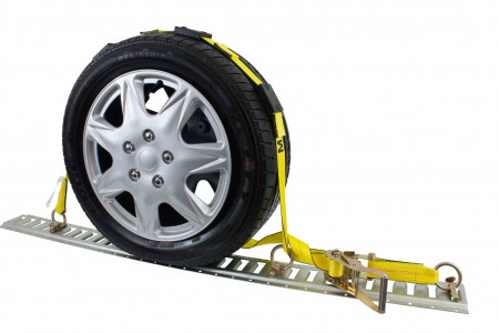 "Over the Tire Wheel Strap w/ E-Track Fittings 2"" x 10',"