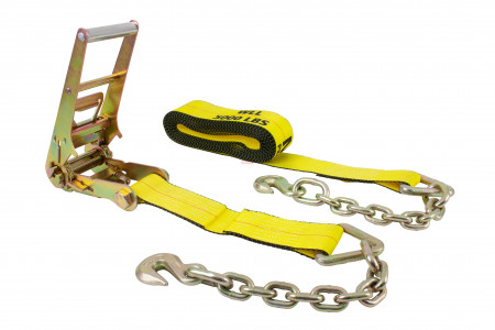 3 in. x 30 ft. Ratchet Strap with Chain Anchor