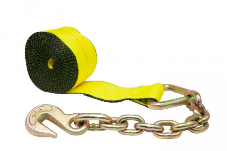 4 in. x 30 ft. Winch Strap with Chain Anchor