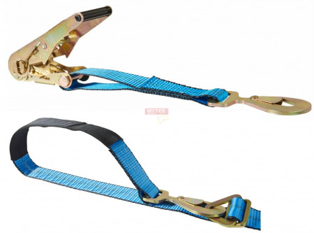 """2""""x8' Axle Strap w/ Floating D-Ring and Snap Hooks"""