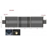 Heavy Duty 18oz 3 Pc Lumber Tarp (8' Drop) 20' Ends - Black