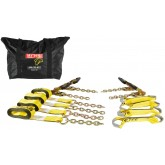 8 Point Tie Down Kit w/ EZ Grip Ratchets 4000# WLL