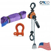 Columbus McKinnon Mini Ratchet Lever Hoist Sling and Shackle Kit