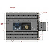 Heavy Duty 18 Oz Lumber Tarp 24x20 (8' Drop with 8' x 8' Flap) - Black