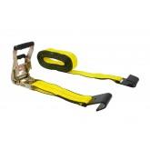 "2"" x 30' Ratchet Strap w/ Flat Hook and EZ Grip Rubber Handle"