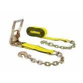 2 in. x 30 ft. Ratchet Strap with Chain Anchor