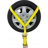 Side Mount Wheel Net with Ratchet & Flat Hook
