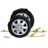 Ratchet Tire Strap w/ 3 Wire J Hooks or w/ Swivel Hooks