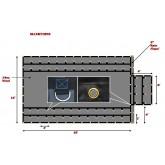 Super Light 14 Oz Lumber Tarp 16x18 (4' Drop with 4' x 8' Flap) - Black
