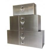 Stainless Steel Trailer Tool Box Double Door Barndoor Style