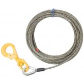 """1/2"""" Wire Rope Steel Winch Cable with Locking Swivel Hook"""