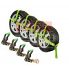 Auto Tie Down Straps w/ Snap Hook (High Visibility Green Webbing)