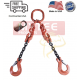 Chain Sling G100 2-Leg with Adjusters, Clevis Sling Hook w/ Latch